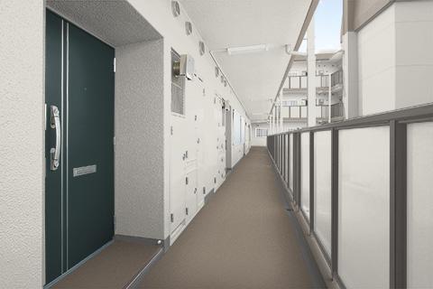 集合住宅 開放廊下